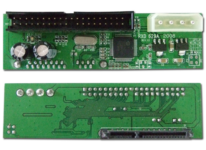 Adapter or converter for a SATA drive to become a PATA drive